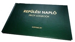 "Flight Pilot logbook ""green L "" (Aircraft, helicopter, UL) Hungarian, English"