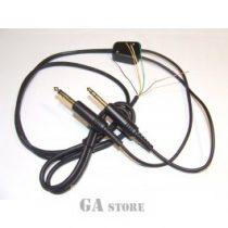 Headphone cable aircraft mono
