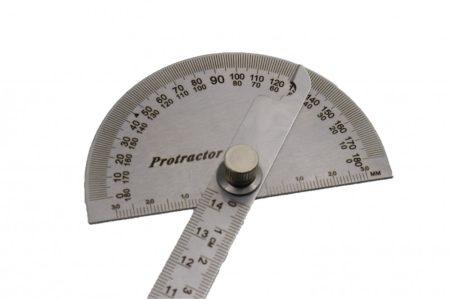 Szögmérős vonalzó, 150 mm
