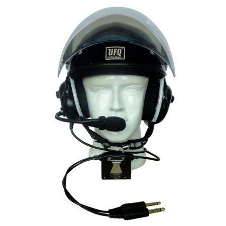 Active noise-canceling flight headset helmet