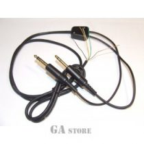 Headphone cable aircraft mono