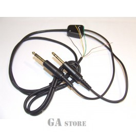 Headphone cable plane stereo