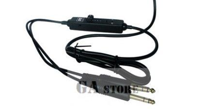Repülőgép fejhallgató kábel,   sztereó -  hangerőszabályzó   + audio kábel 3,5 jack
