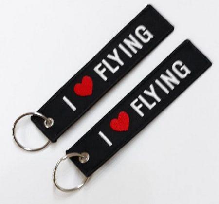 "RBF kulcstartó ""I LOVE  FLYING """