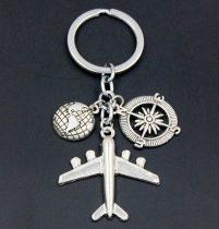 airplane + globe
